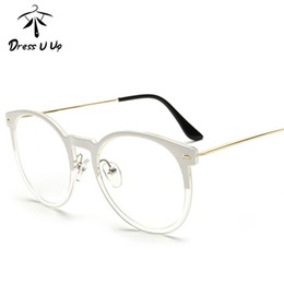 3e655ae933 Al por mayor-DRESSUUP Retro Redondo Gafas Marco Para Mujeres Hombres Cat  Eye Anteojos Clear Eyeglass Spectacle Optical Eyewear Lujo marcos  transparentes de ...