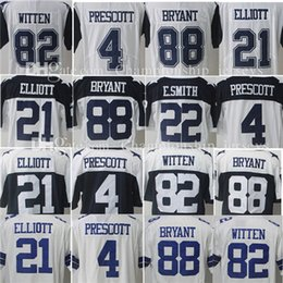 Wholesale Smith Men - Mens stitched 4 Dak Prescott jersey 21 Ezekiel Elliott 88 Dez Bryant 82 Jason Witte 50 Sean Lee 22 Emmitt Smith Stitched jersey