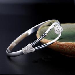 2019 freundin geburtstag armband silber Heiße Art- und Weisefrauen Dame Rose Silver Plated Bracelet Charm Bangle Cuff Jewelry für mon Freundin Geburtstagsgeschenk günstig freundin geburtstag armband silber