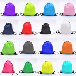 Wholesale Wholesale Folding Doors - 30*40CM Hot Drawstring Bag Tote Bags Waterproof Backpack Folding Bags Marketing Promotion Drawstring Storage Bag CCA6734 1000pcs