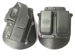 Wholesale Tactical Magazines - Standard Glock 17 and magazine Holster Combo GL2+6900 Black for Glock 17 19 22 23 31 32 34 35 tactical gun holster