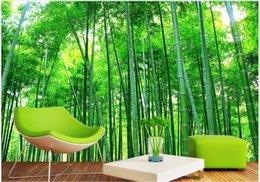2019 camere da parete dipinte di bambù 3d room wallpaper landscape foto personalizzate murale Bamboo scenario casa miglioramento pittura 3d murales carta da parati per pareti 3 d soggiorno camere da parete dipinte di bambù economici