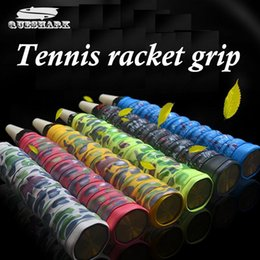 Wholesale Tennis Racquets Over Grips - Wholesale- 1 pcs Camouflage Anti-slip Racket Over Grips Tennis Badminton Racquet Sports Squash Tape Non-slip Fishing Rods Grips