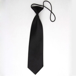 Wholesale Toddlers Neckties - Wholesale- 2016 New Arrival Black Kids Toddler School Style Neck Tie Necktie School Suit Accessories 1 PC Free Shipping