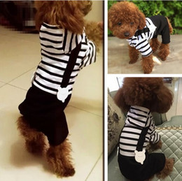 Wholesale Costumes For Teddy Bears - Wooden Cuckle Bear Clothes For Pets Teddy Bichon Small Dog Clothes Four Feet Clothing Spring And Aummer Fall And Winter Clothes