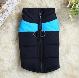 Wholesale Winter Puppy Clothes Xs - Hot Winter Dogs Pet Cat Padded Vest Coat Puppy Warm Down Fleece + Polyester Jackets Clothes XS-XXXL