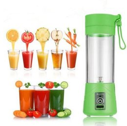 Wholesale Hand Citrus Juicer Stainless Steel - 6 Colors 380ML USB Juicer Cup Portable Electric Juicer Blender Rechargeable Personal Juicer Cup Fresh Juice Tool CCA6360 48pcs