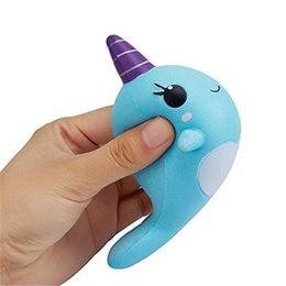 Wholesale Cartoon Squishy - Squishy Slow Rising Cute Whale Squishies Toys Kawaii Squishy Cartoon Ballchains Soft Decompression Cellphone Backpack Home Office DIY Decor