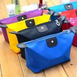 Wholesale Make Trips - Wholesale- 10 pcs Clutch Purse Beautician Vanity Necessaire Trip Women Travel Toiletry Kit Make Up Makeup Case Cosmetic Bag Organizer Pouch
