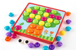 boutons de jouets Promotion 3D Puzzles Jouets Pour Enfants Image Composite Puzzle Creative Mosaïque Champignon Nail Kit Jouets Éducatifs Bouton Art Enfants Jouet