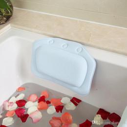 Wholesale Wholesale Bath Pillows - 6 Colors Bathroom Supplies waterproof bathtub spa bath pillow with suction cups Head Neck Rest Home & Garden pillows