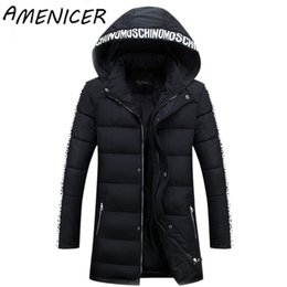 Wholesale Cheap Mens Down Jackets - Wholesale- Newest 2016 Men Casual Parka Winter Warm Turn-Down Collar Hooded Fashion Mens Down Jacket Slim Fit Cheap-Male-Clothing