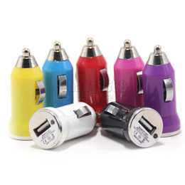 Wholesale Cheap Tablet Chinese - Promotion Car Chargers Cheap Colorful Bullet Car Adapter Black White For Smart Phones Mp3 Mp4 Tablet Free Shipping