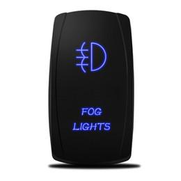 Wholesale 12 Volt Led Car Lights - Car Toggle Switch Laser Fog Lights Rocker Switch 5 PINS 20 Amp 12 Volt Rocker Switch Blue LED for Car Motor Boat