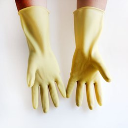 Wholesale Wholesaler Latex Material - 10 Pair   lot Labor Protection Safety Gloves Natural Latex Material Thicker Industrial Grade Anti-acid Alkali Corrosion