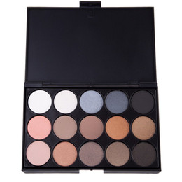 Wholesale Shadow Colors For Green Eyes - Wholesale- 15 Colors Natural Professional Cosmetic Matte Eyeshadow Palette Fashion Long Lasting Makeup Eye shadow Palette For Women 1458181