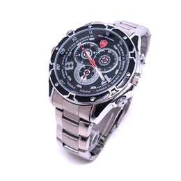 Wholesale Spy Stainless Watches - HD 1080P 8GB Spy Watch DVR Camera with IR Night Vision Waterproof Motion Detection Stainless Steel