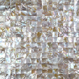 Wholesale Pearl Shell Tiles - natural iridescent color 100% natural Chinese freshwater shell mother of pearl mosaic tile for interior house decoration square style