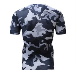 Wholesale Black Body Suits - 2017 spring sports casual suit male sportswear male camouflage tights body suit