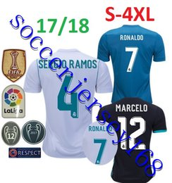 Wholesale Football Jeresys - 2018 Champions League Real Madrid Soccer Jersey RONALDO Home Away 3rd Soccer Jerseys 17 18 ASENSIO Football Jeresys Soccer Patchs
