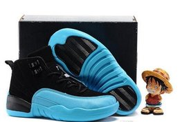 Wholesale Youth Boys Size 12 - Air Retro 12 Kids Basketball Shoes Youth Children's Athletic Retro 12 Sports Shoes for Boy Girls Shoes Free Shipping size:28-35