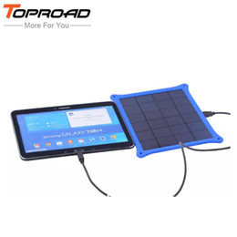Wholesale External Power Source - Wholesale-Portable Outdoor 5w Solar Panel Power Source Charging Camping External Battery Charger for All Mobile Phones MP3 Outdoor Travel