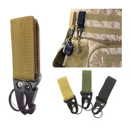 Wholesale Tactical Nylon Webbing - Wholesale Outdoor Gadgets Military Tactical Multifunction Carabiner Clip Clasp Nylon Webbing Buckle Hanging Olecranon Hook Keychain