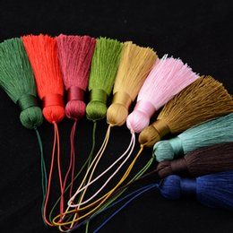 Wholesale Satin Bags For Jewelry - Silk Cotton Tassels Charms - Handmade Satin Tassels Pendant For DIY Jewelry Making Keychain Keyring Necklace Bag Pendant