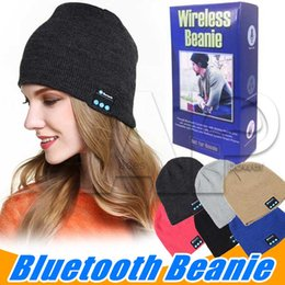 Wholesale Apple Hats Wholesale - Bluetooth Headphones Soft Hat Stereo Wireless Earphones Headset Speaker Microphone Handsfree For Iphone7 Plus Samsung Galaxy S7 With Package
