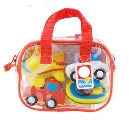детские игрушки Скидка Подарочная сумка пакет милый транспорт тема мягкая резина детские игрушки ванны Дети плавание игрушки вода игрушки WJ123
