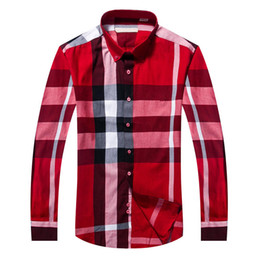 Wholesale Slim Fit Shirt Check Men - 2018 Brand Men's Business Casual shirt long sleeve striped slim fit camisa masculina social male T-shirts new fashion man checked shirt #182