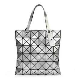 Moda Lady Origami Art Geometria Bolsa Mulheres Lucent Efeito Do Laser Sacola 6 cores 1 pcs navio da gota de