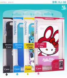 Wholesale Iphone 4s Logo Cases - Fashion Custom Logo PVC Plastic Packaging Boxes Package Mobile Phone Case box for iphone 4s 5s 6s 7 7 plus