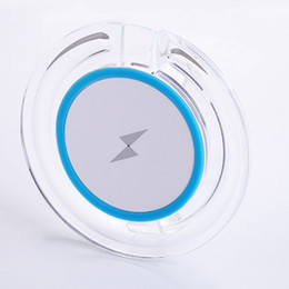 Wholesale Galaxy S4 Qi Charger - Ultra-slim Universal Qi Wireless Charger Charging Pad Fast Receptor Receivers for Samsung Galaxy S3 S4 S5 S6 S7 S8 Edge WXQ3