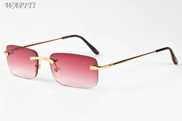 Wholesale Square Clear Plastic Boxes - 2017 Designer Sunglasses For Men Luxury Brand Sun Glasses For Women Ladies Vintage Retro UV400 Clear Lens Male Female Come With Box