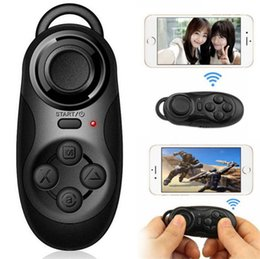 Wholesale Console 3d - Universal SK032 Bluetooth Remote Controller Game Joystick Gamepad Console Selfie Shutter for Android iOS Smartphone for 3D VR Glasses