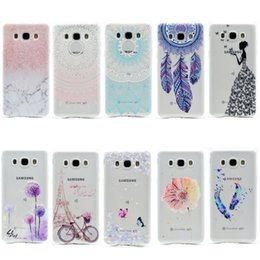 Wholesale Dirt Girl - Transparent TPU Cover For Samsung Galaxy J710 J7 2016 Case Fashion Tower bike Butterfly Girl Feather Design Mobile Phone Cases