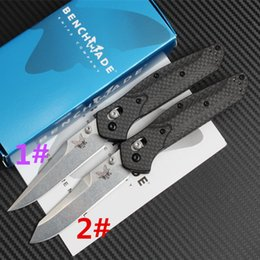 Wholesale Sleeve Boxes - High quality BM940 D2 58HRC with color box and nylon sleeve steel handle Camping hunting wild gift knife free shipping 1 pcs