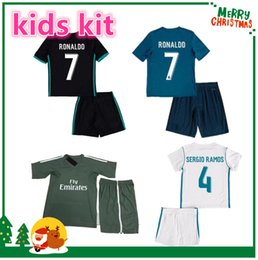 Wholesale Real Madrid Kids Soccer Jersey - 17 18 madrid kids boy kit Soccer Jersey Benzema ASENSIO Ronaldo football Modric Kroos Sergio Ramos Bale Marcelo 2017 2018 Real shirts