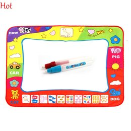 Wholesale Toy Magic Drawing Board - 78x58cm New Russian Water Drawing Mat with 2pcs Magic Pen Russian Boys Girls Childs Drawing Board Educational Toys Drawing Mat Hot SV013625