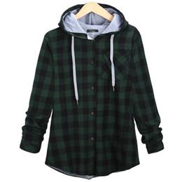 Wholesale Plaid Shirts Hoods - Hip hop Streetwear Plaid Shirt Men High Street Fashion Swag Clothing Loose Hipster Longline HOOD Chemise Homme