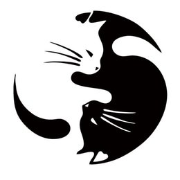 Wholesale Pet Doors For Cats - Hot Sale Car Sticker Yin And Yang Cat Pet Lover Funny Car Styling For Truck Window Bumper Jdm Vinyl Decal Decorate