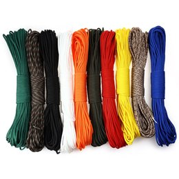 Wholesale Umbrella Rope - Wholesale-Paracord Parachute Cord Multifunctional 7 Core Lanyard Rope 31M Umbrella Rope Camping Survival Equipment Emergency Climbing