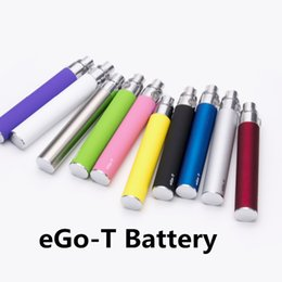 Wholesale Gs Ce5 - Electronic Cigarette Ego Battery Ego-T Battries High Quality 650 900 1100mAh 510 Thread for GS H2 eVod CE3 CE5 Atomizers Pen Vapor DHLFree