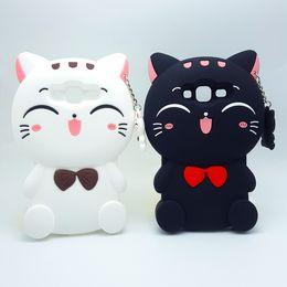 Wholesale Galaxy 3d Silicone Case - 2017 3D Cartoon Kawaii Bow Tie Cat Soft silicone Cover Case For Samsung Galaxy J1 J1ACE J3 J5 J7 A5 E5 A7 E7