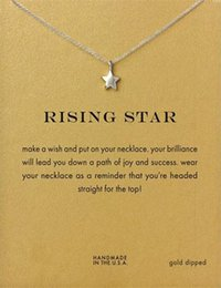 Wholesale Rose Gold Star Necklace - Hot Shape Rising Star Dogeared Necklace Beautiful Women Choker Clavicle Jewelry Gift
