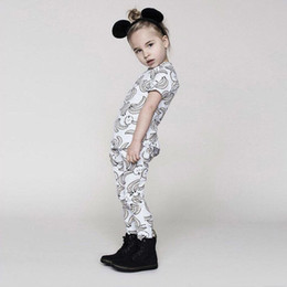 Wholesale Apple Clothes Kids - Ins hot sale baby kids t shitrs clothing set banana apple printed high qulity baby suit 1 top 1 pant