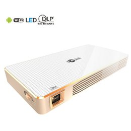Wholesale Bt Business - Wholesale-TOUMEI C800 DLP LED Projector Android 4.4 200 Lumens 854 x 480 Pixels 1080P Smart Media Player BT 4.0 WiFi Connectivity