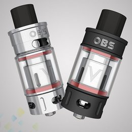 Wholesale E Cigarette Power - Authentic OBS V Tank Sub Ohm Atomizer 5.2ml Large Capacity Smoky High Power Silver Black E Cigarette DHL Free