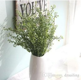 Wholesale Artificial Flowers Bushes - Widely used 44cm Green Calla grass bush greenery silk flowers artificial flowers for home & wedding party decoration Y-686A